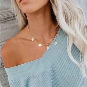 Jewelry - NWT Star ⭐️ Layered Gold Fashion Necklace Jewelry